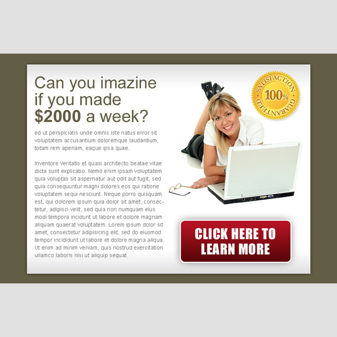 converting ppv landing page design template for work from home business PPV Landing Page example
