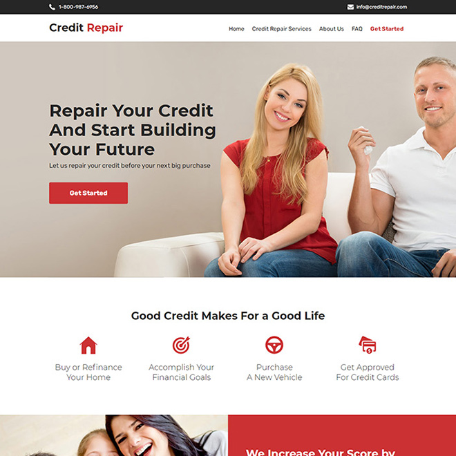 credit repair companies professional website design Credit Repair example