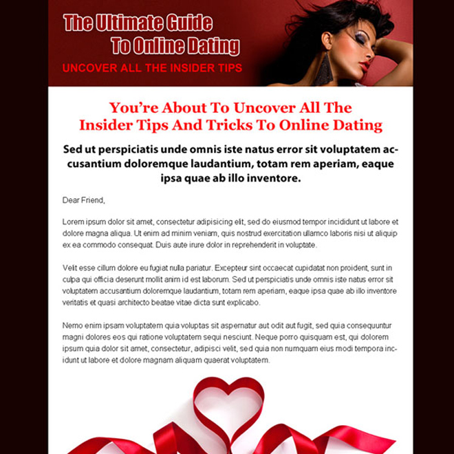 dating sales page call to action landing page design Sales Page example