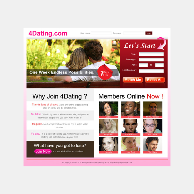 lead capture clean and simple dating landing page for sale Landing Page Design example