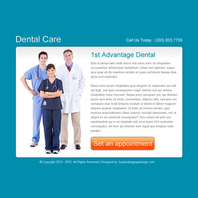 dental care clean and effective ppv landing page design Dental Care example