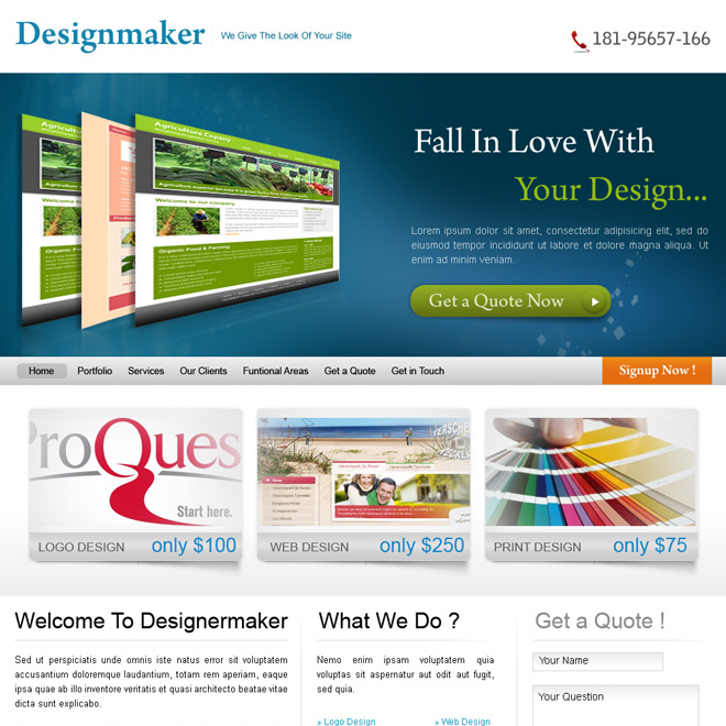 web design company website template design psd Website Template PSD example
