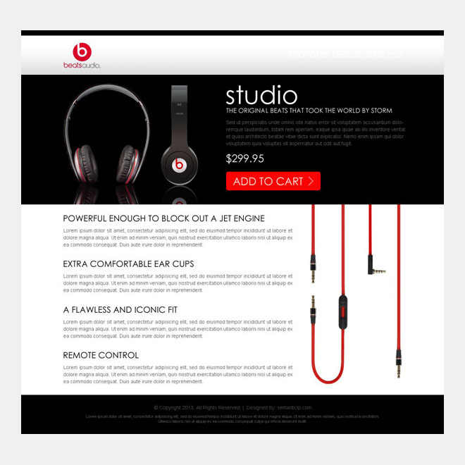 single digital product most effective sales page Electronics example