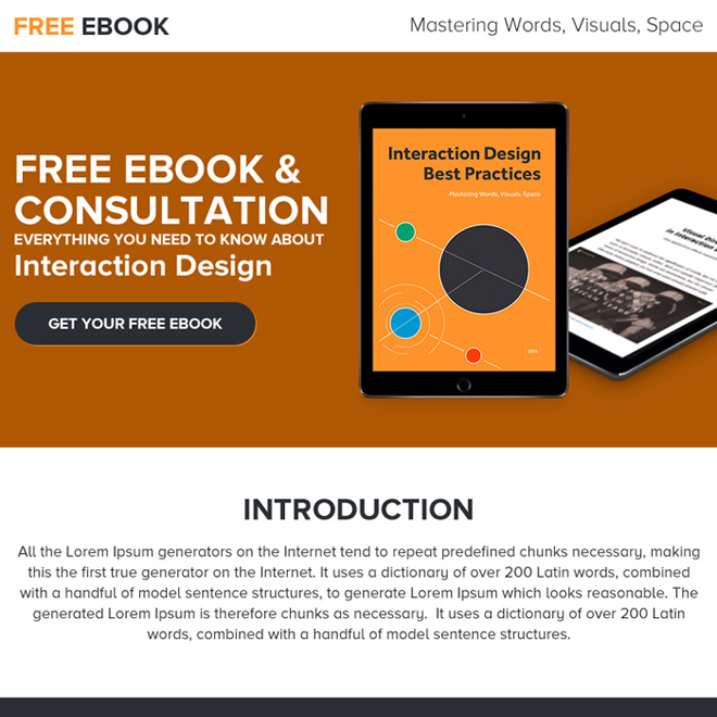 free ebook and consultation ppv landing page design E Book example