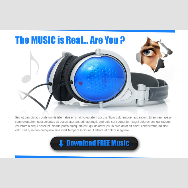 download free music clean and effective ppv landing page design Electronics example