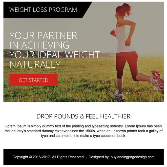 weight loss program ppv landing page design template Weight Loss example