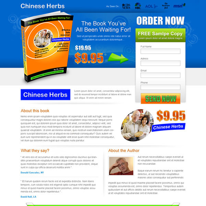 ebook lead capture landing page design template Ebook example