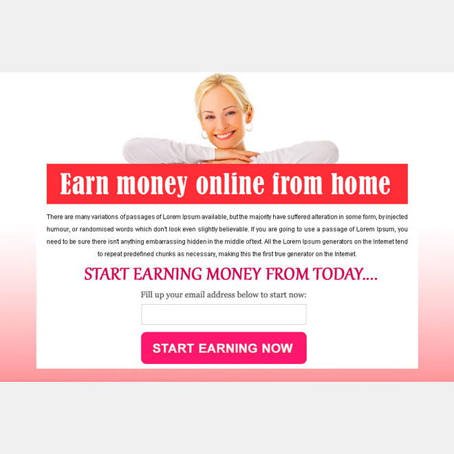start earning money online converting ppv landing page design PPV Landing Page example