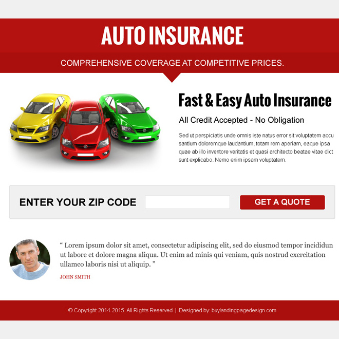 attractive auto insurance by zip code ppv landing page Auto Insurance example