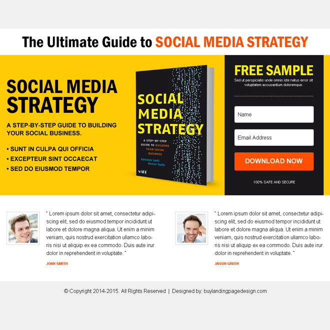 ebook free sample download lead capture ppv landing page design E Book example