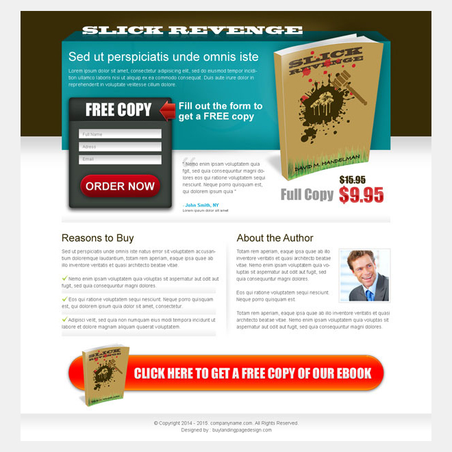 ebook free copy lead capture squeeze page design Ebook example
