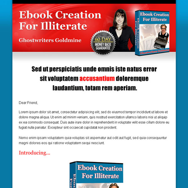 ebook click to action long sales page design to increase your conversion Sales Page example