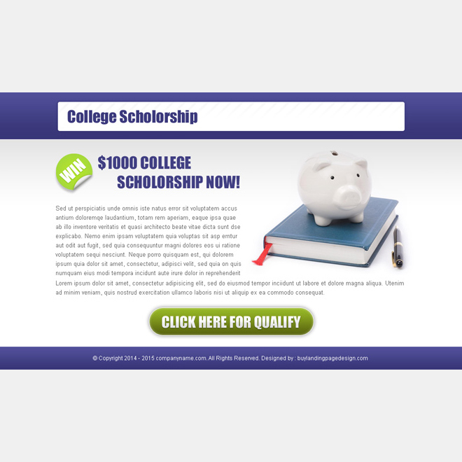 collage scholarship most converting ppv landing page design PPV Landing Page example