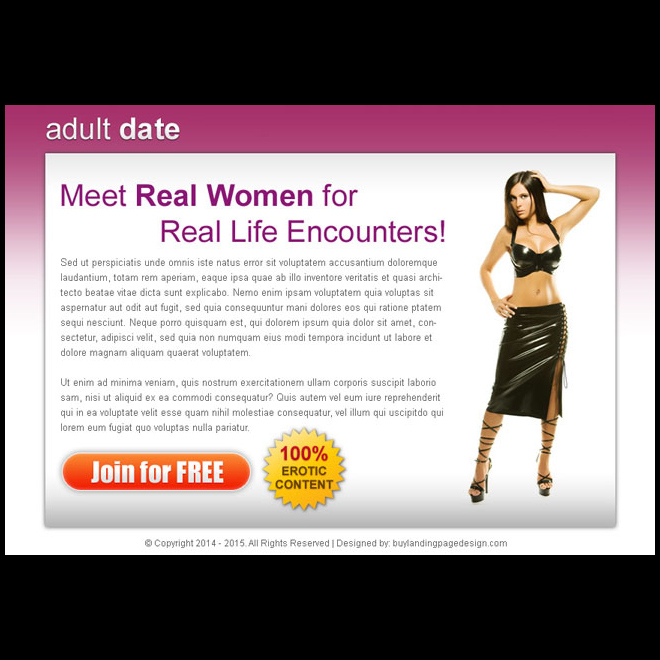 adult dating highest converting ppv landing page design PPV Landing Page example