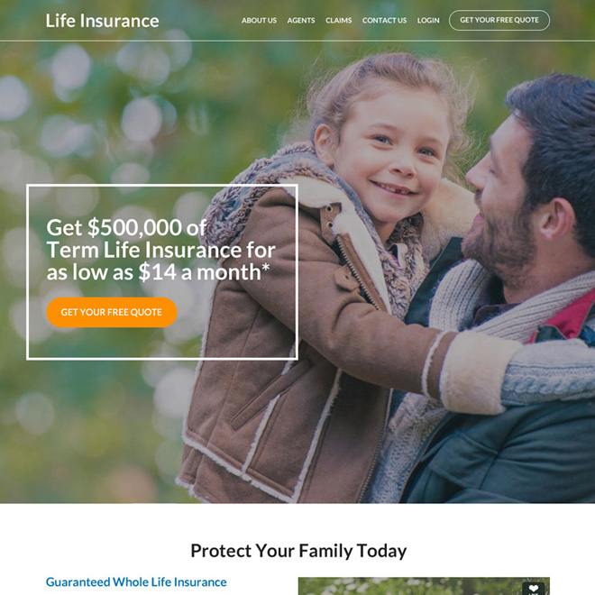 best family life insurance coverage responsive website design Life Insurance example