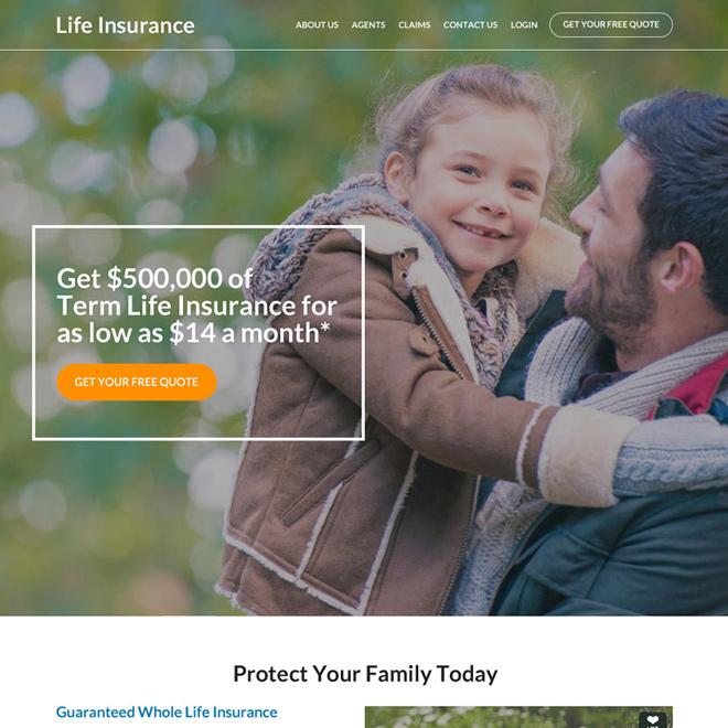 best family life insurance coverage responsive website design Life Insurance example