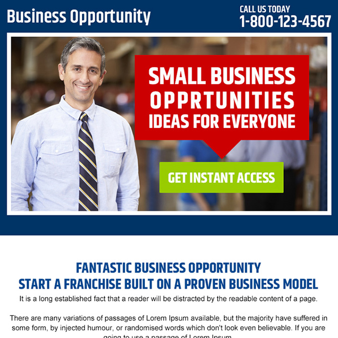 small business opportunities PPV design Business Opportunity example
