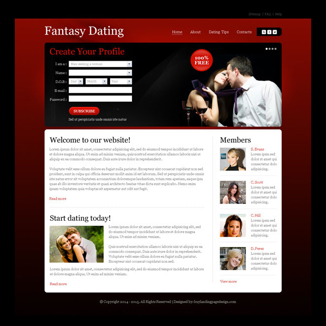 dating website introduction title