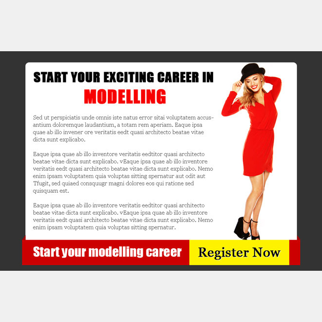fashion and modeling attractive and appealing ppv landing page design Fashion and Modeling example