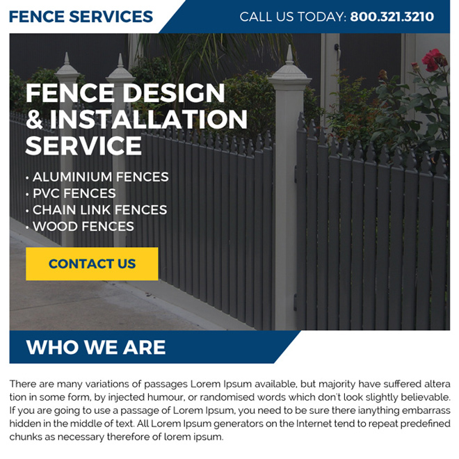 fence design and installation service ppv landing page Fencing example
