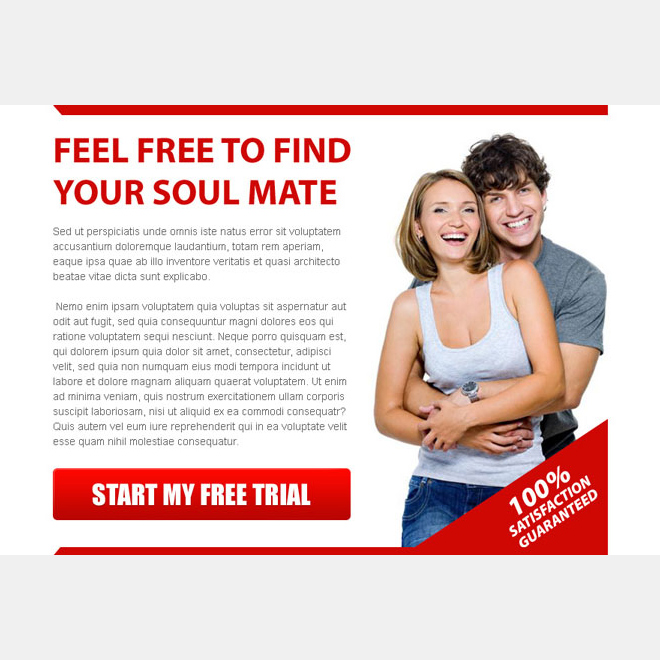 find your soul mate attractive ppv landing page design template Dating example