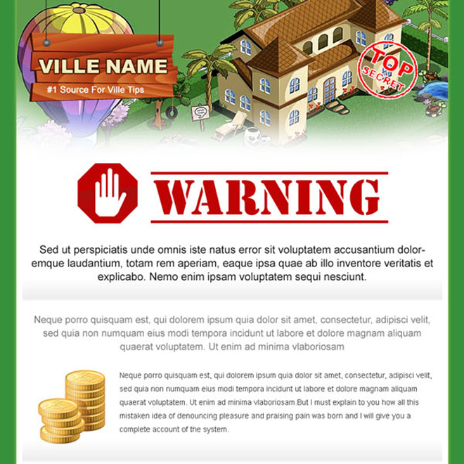 firm villa game landing page design sales page Miscellaneous example