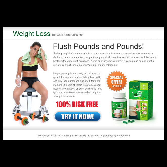 weight loss product lead capture call to action ppv landing page design PPV Landing Page example