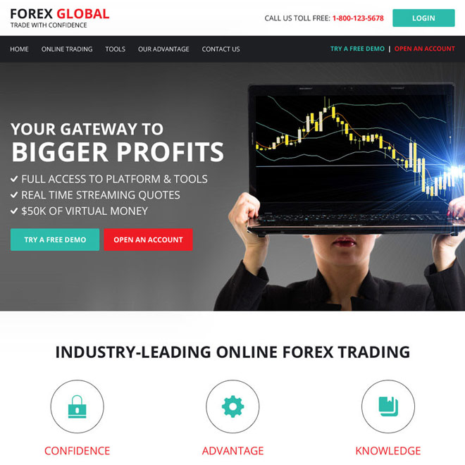 html website template design for forex trading business Forex Trading example