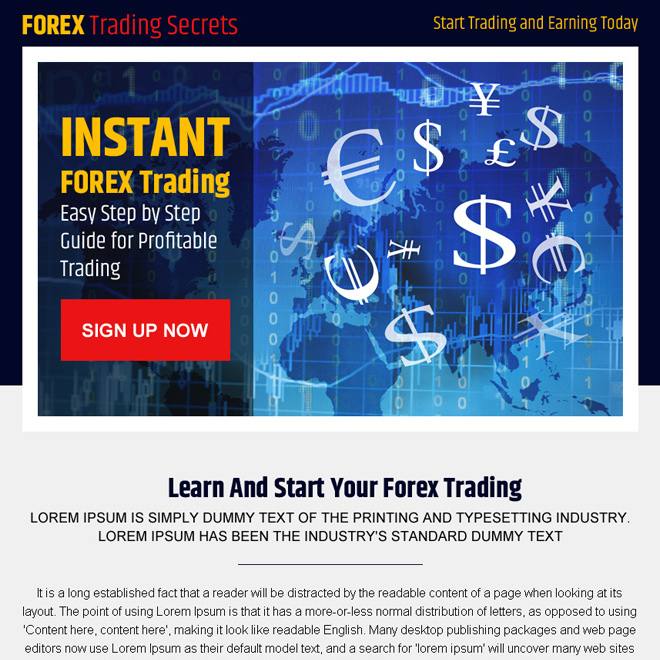 instant forex trading step by step guide lead capture ppv landing page design Forex Trading example