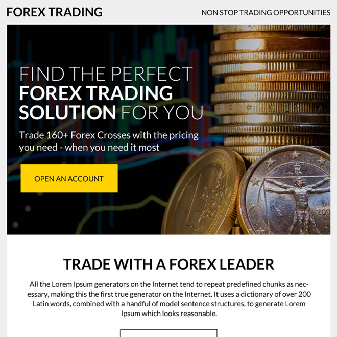 forex trading solution ppv landing page design Forex Trading example