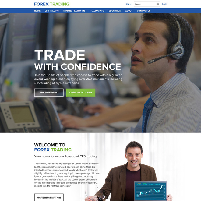 online forex trading sign up capturing website design Forex Trading example