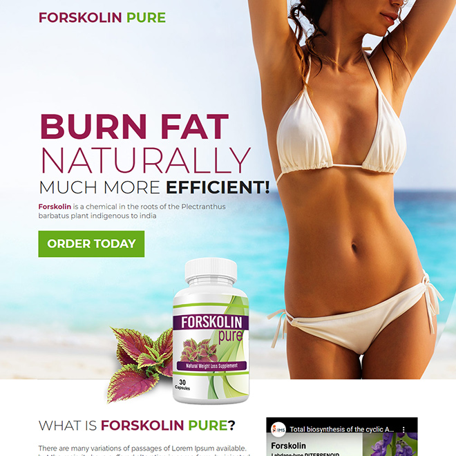 forskolin extract capsules selling responsive landing page design Weight Loss example