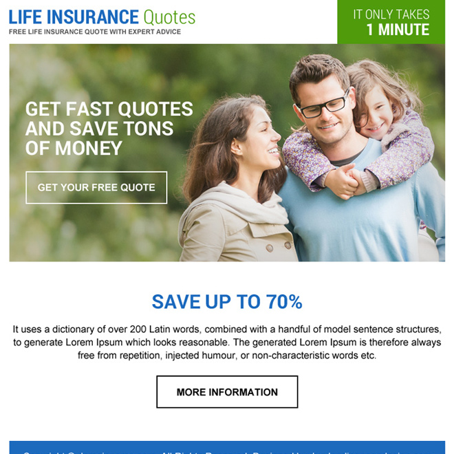 life insurance quotes ppv landing page design Life Insurance example