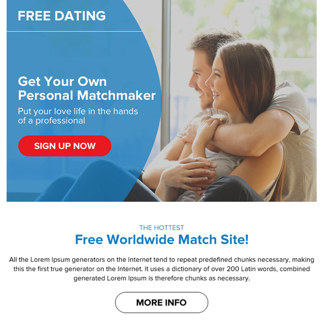 free dating sign up lead capturing ppv landing page design Dating example