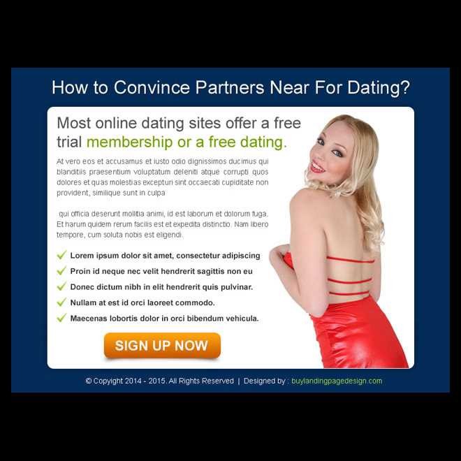 dating website sign up ppv landing page design template PPV Landing Page example