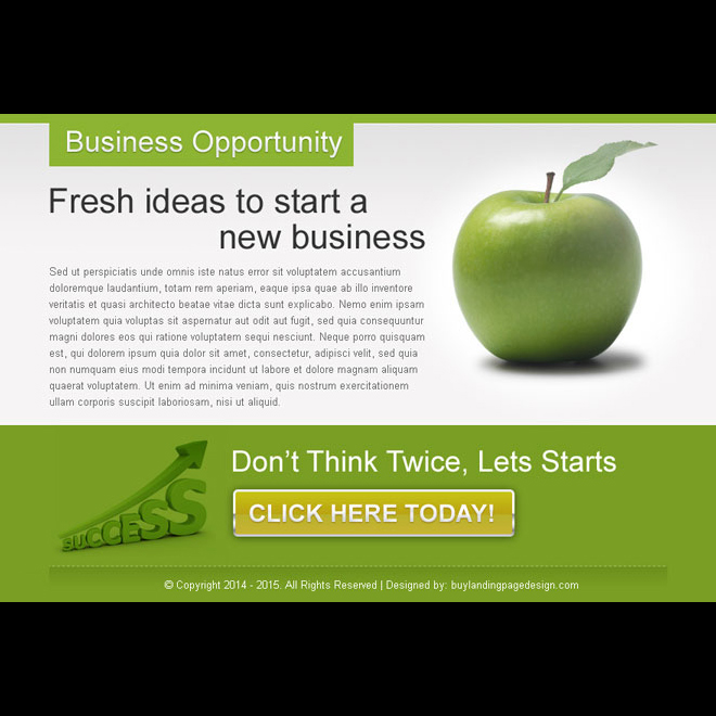 fresh ideas to start a new business ppv lander design PPV Landing Page example