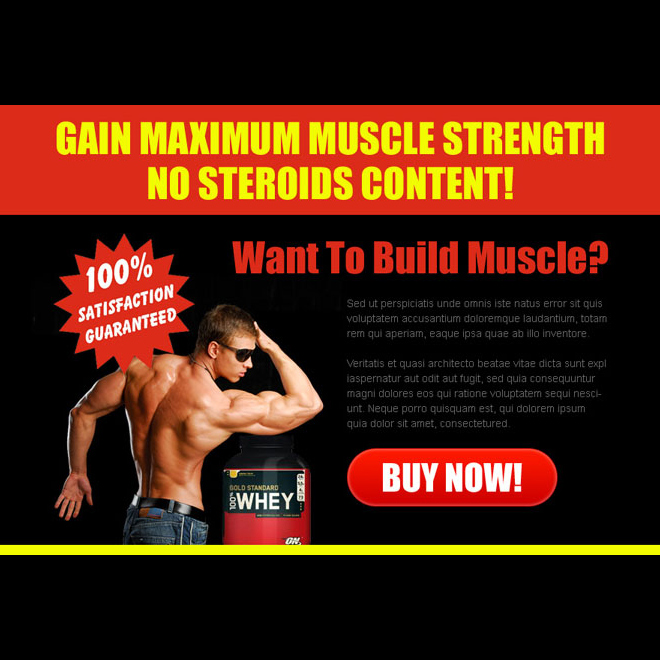 gain maximum muscle strength attractive ppv landing page design PPV Landing Page example