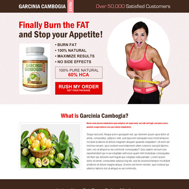 garcinia cambogia responsive weight loss landing page to burn fat and stop your appetite Garcinia Cambogia example