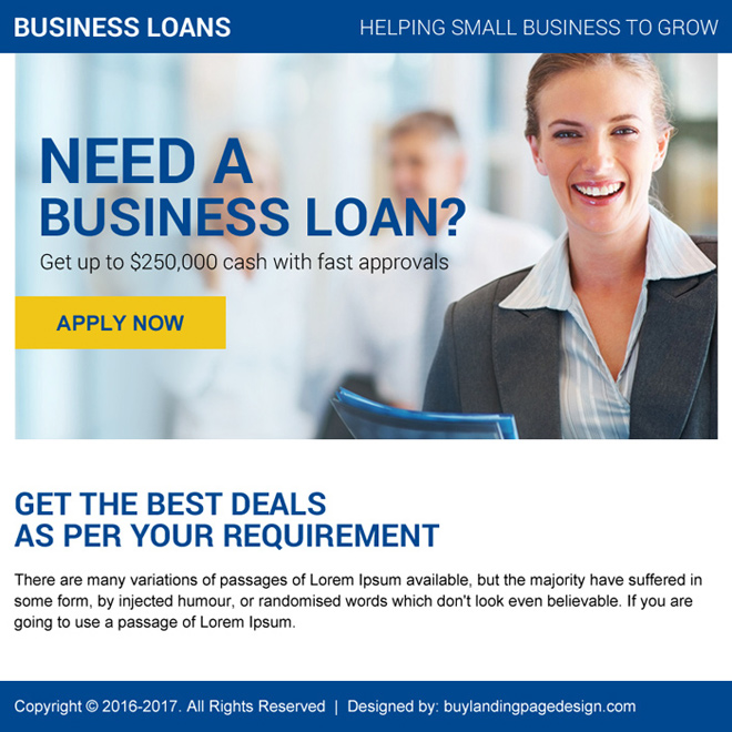 business loan online application ppv landing page design Business Loan example