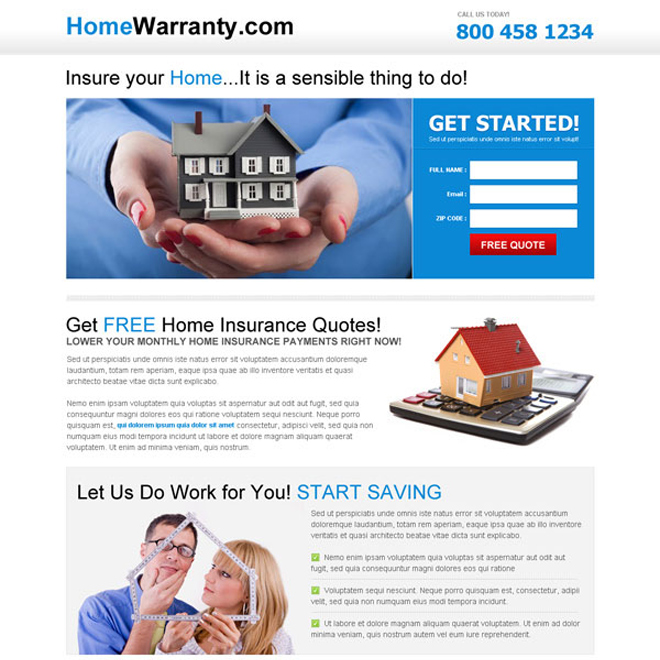 insure your home clean and minimal free home insurance quote Home Insurance example
