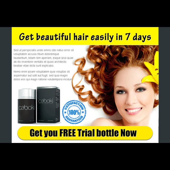 get beautiful hair easily in 7 days with our hair loss product ppv landing page Hair Loss example