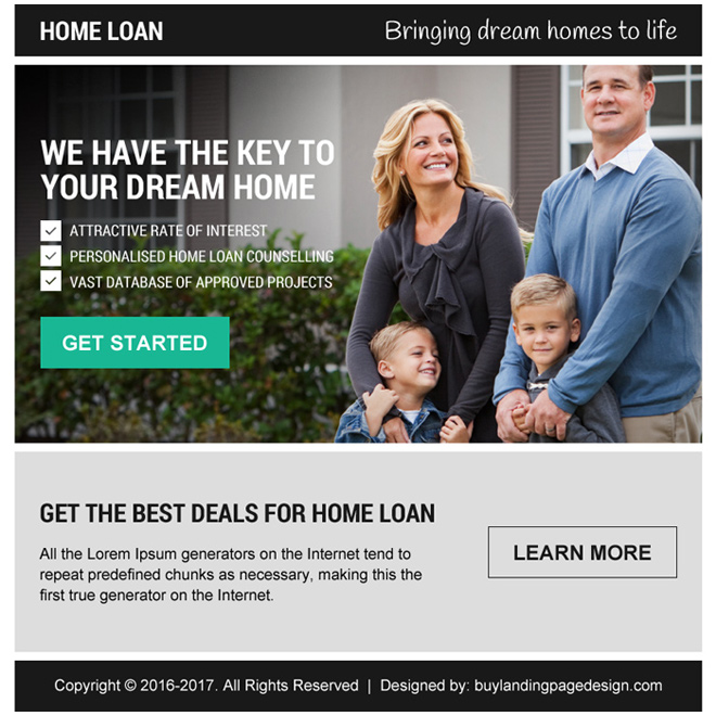 best deals for home loan pay per view landing page Home Loan example