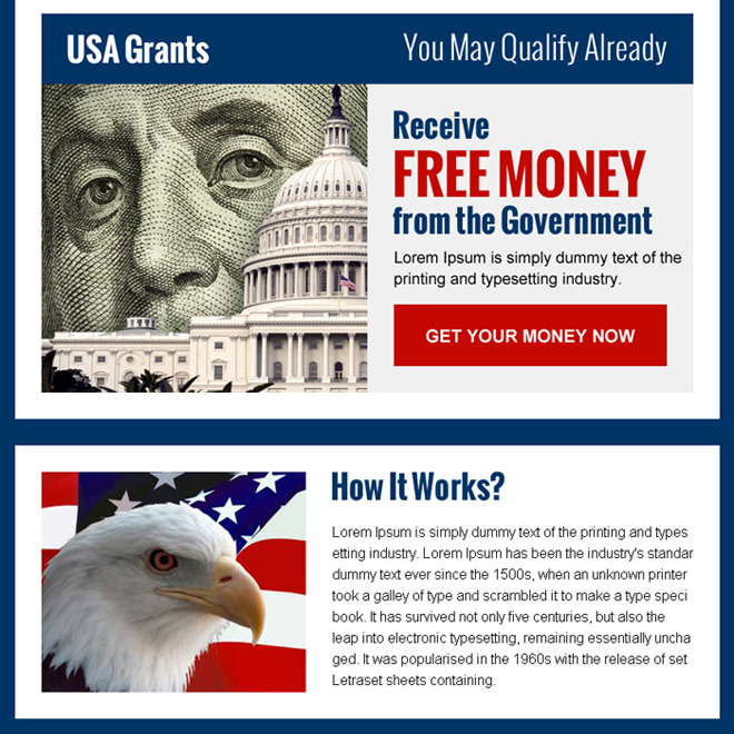 get free grants money in usa ppv landing page design Government Grants example