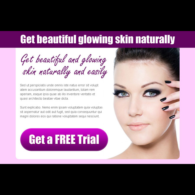 get beautiful and glowing skin naturally and easily converting ppv landing page design template Skin Care example