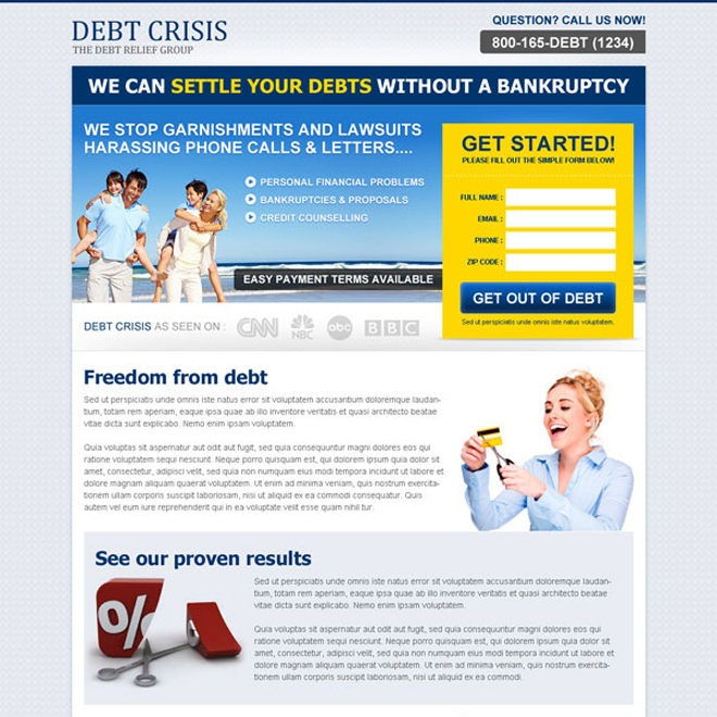 settle your debts without a bankruptcy clean and effective lander design Debt example
