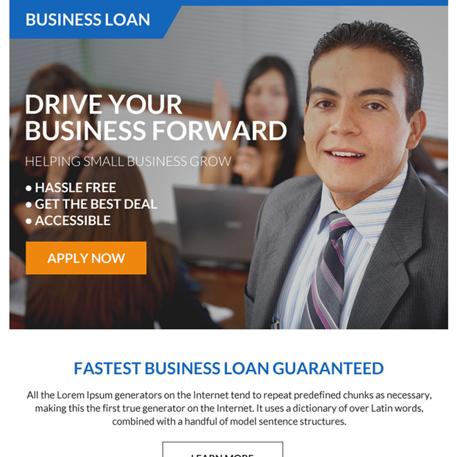 fastest business loan online application ppv landing page design Business Loan example