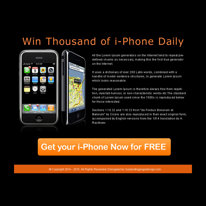 i-phone review call to action ppv landing page design PPV Landing Page example