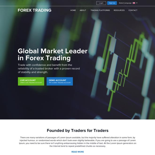 responsive global leader in forex trading website design Forex Trading example