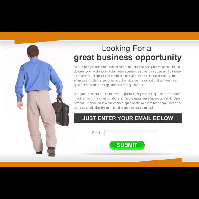 great business opportunity lead capture ppv landing page design PPV Landing Page example