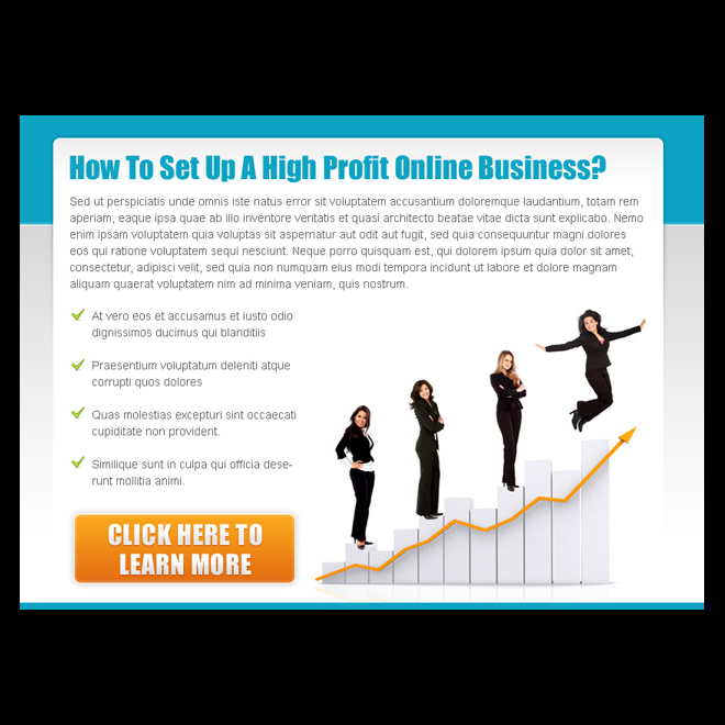 set up a high profit online business ppv landing page PPV Landing Page example